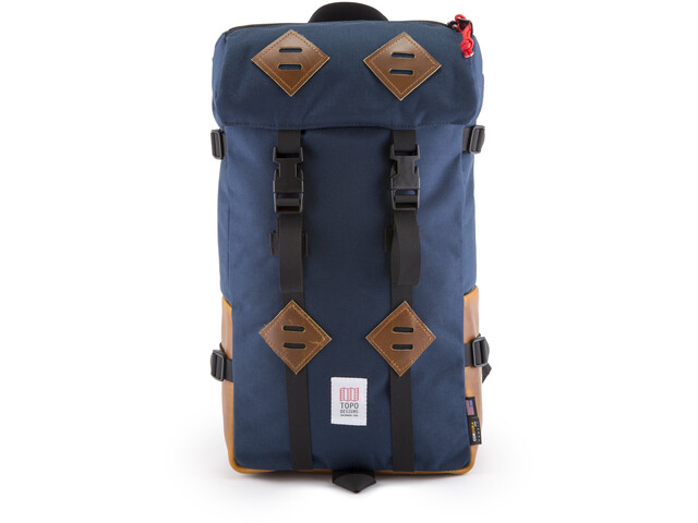 Topo Designs Klettersack Backpack Leather 25l, navy/leather